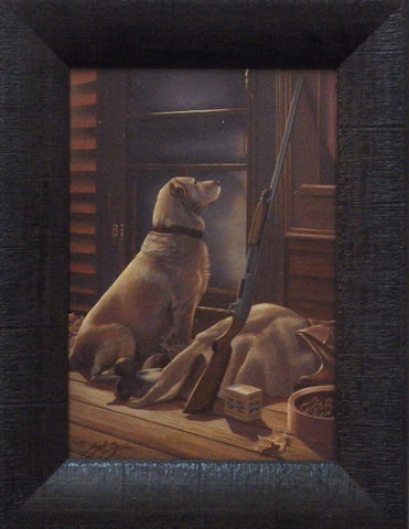 Scot Storm Opening Day Yellow Lab-Framed