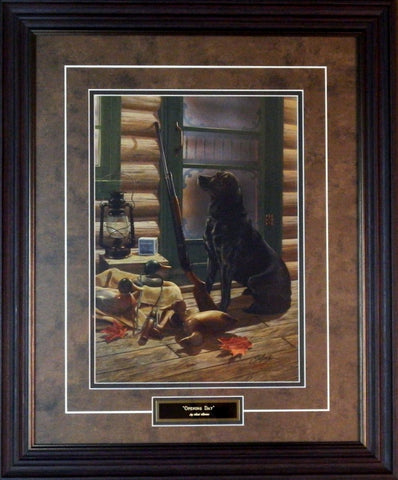Scot Storm Opening Day Black Lab Framed