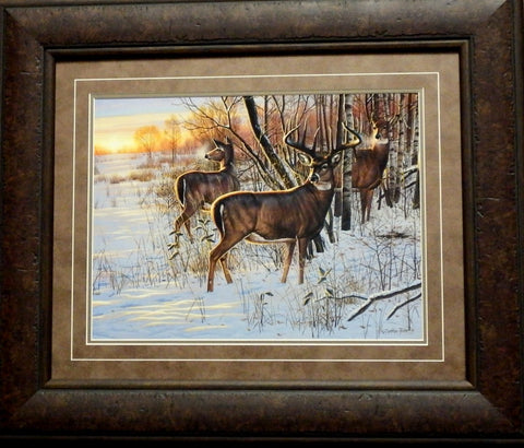 Cynthie Fisher Sunrise Retreat Deer Print -Framed