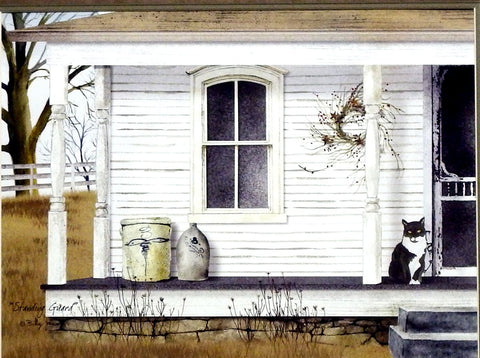 Billy Jacobs Standing Guard Cat Print