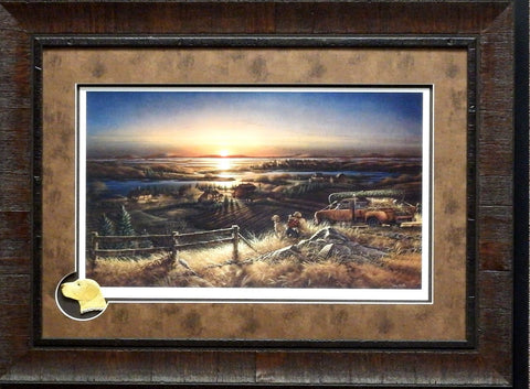 Terry Redlin Best Friends Print Framed with Cameo