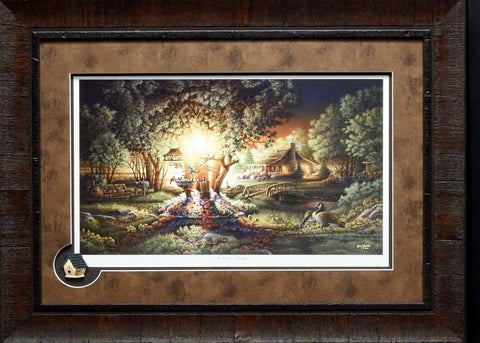 Terry Redlin Colors of Spring  Print Framed with Cameo