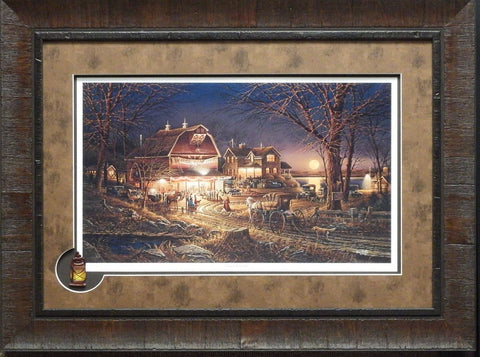 Terry Redlin Harvest Moon Ball Framed Print with Cameo