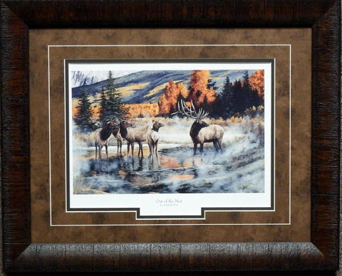 Andrew Kiss Out of the Mist Framed Elk Print