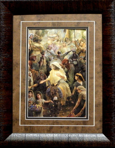 Tom Dubois Lamb of God Religious Art Print -Framed
