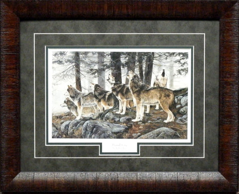 Andrew Kiss Primal Song Framed Wolves Print
