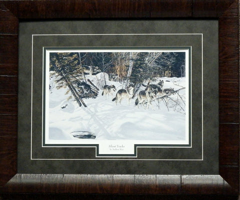 Andrew Kiss Silent Tracks Framed Wolves Print