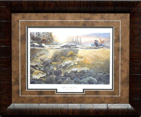 Terry Doughty Walleyes on the Rocks- Framed
