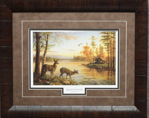 Mary Pettis Quiet Evening Deer Print-Framed