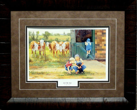 Mary Pettis Let Me See Too Framed Print