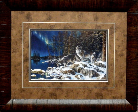 Jim Hansel Night Lights- Framed