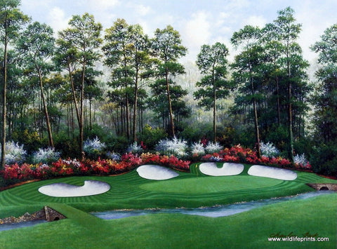 Charles Beck Golf Print Azalea 13th Hole The Augusta National