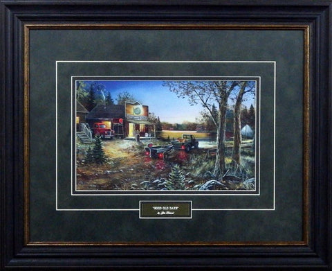 "Jim Hansel Good Old Days- Framed - 15.5""x11"" Open Edition"