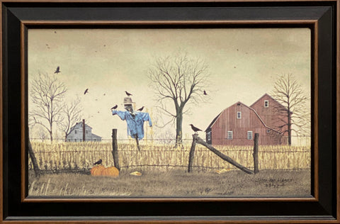 Billy Jacobs After the Harvest Country Scarecrow Art Print-Framed 23.5 x 15.5