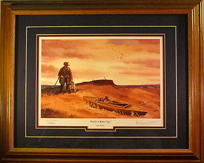 Les Kouba End of a Perfect Day Duck Hunting Signed and Numbered Framed Print