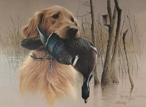 Jim Killen, Golden Retriever-Wood Duck S/N (19x14)