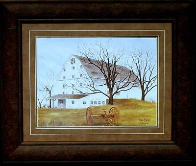 Billy Jacobs Done Raking Country Farm Print-Framed (Lg Size) 25 x 21.5