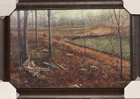 Brian Kuether Wild Turkey Hunting Art Print-Framed 29 x 20 Free Shipping