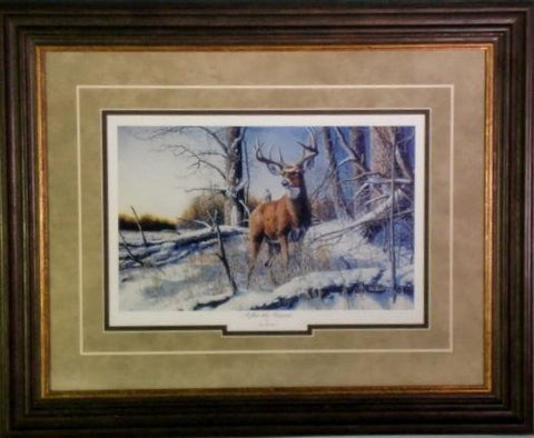Jim Hansel After the Season Deer Hunting Print Framed 21 x 17