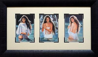 Maija River of Dreams Native American Framed Trilogy  24 x 14