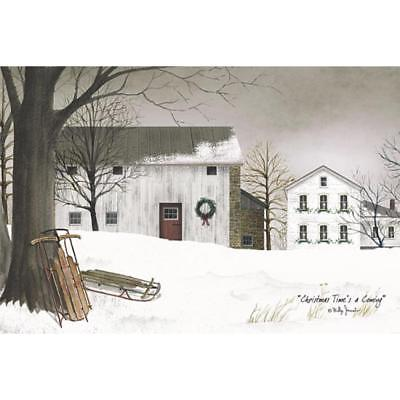 Billy Jacobs Christmas Time's a Coming Country Farm Art Print 18 x 12