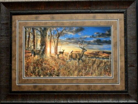 Jim Hansel Out For the Evening Deer Art Print-Framed 27.5 x 20.5