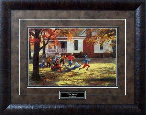 "Andy Thomas Fall Football-Framed - Framed Size 24""x19"""