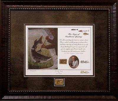 "Les Kouba ""The Magic Moment"" Darkhouse Spearing Framed Print With Gold Pin"
