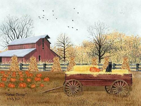 Billy Jacobs Fall Pumpkin Art Print Autumn Blessings (24x18) FREE SHIPPING