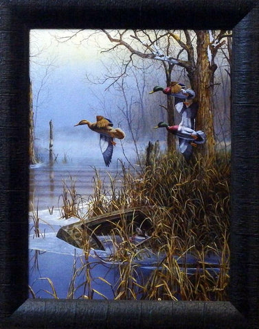 "Jim Hansel ""After The Thaw"" Duck Studio Canvas Framed Print- 15"" x 19"""