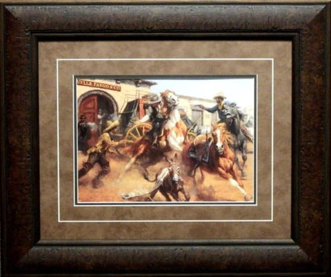 Andy Thomas The Burro and the Bad Men Framed Western Print