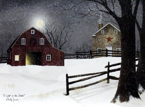 Billy Jacobs A Light in the Stable - 24 x 18 Open Edition