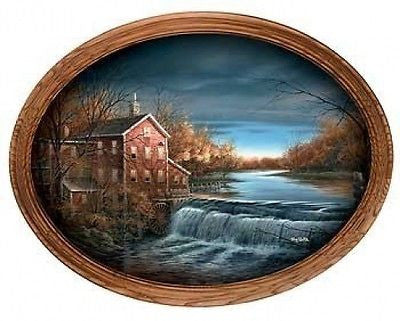 Terry Redlin Autumn Afternoon Framed  Oval 14 x 11-FREE SHIPPING