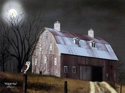 Billy Jacobs Summers End Barn  Art Print 24 x 18