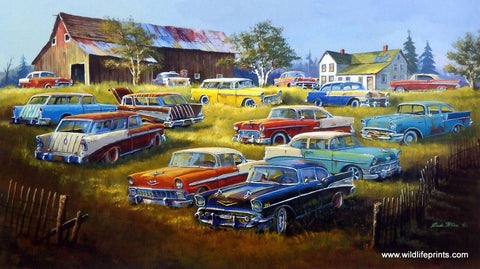 Dale Klee A Few Good Year Classic Chevrolet Cars Print
