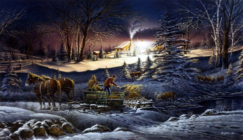 Terry Redlin A Helping Hand