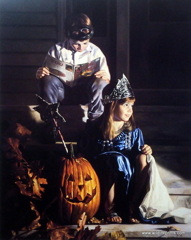 Bob Byerley Halloween Trick or Treat Children's Art Print