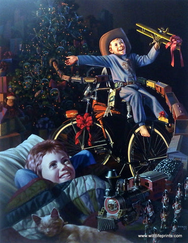 Bob Byerley Children's Print Waiting for Christmas Morning