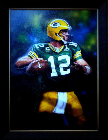 Framed print Aaron Rodgers Green Bay Packers Out of the Shadow