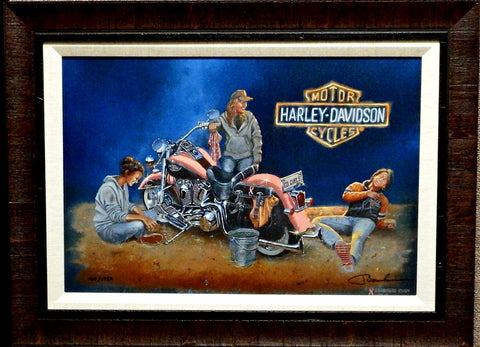Dave Barnhouse An Inside Joke Harley Canvas-Framed