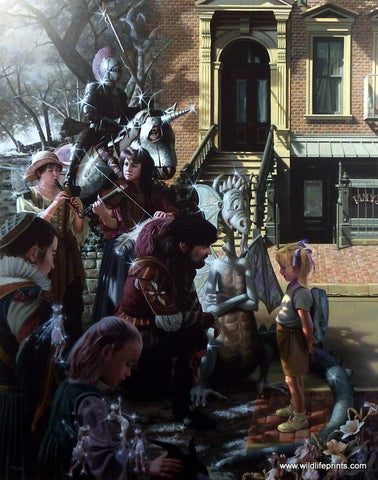 Bob Byerley Children's Print Daydreaming of Knights in Shining Armor