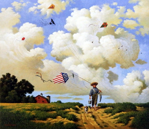 Charles Wysocki Kite Flying Picture