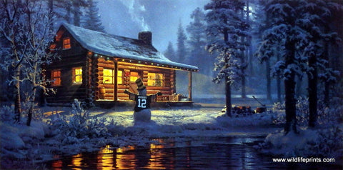 Don Kloetzke Art Print Green Bay Packers Another White Christmas