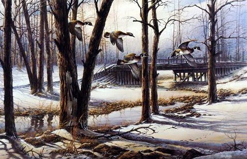 Terry Redlin April Snow