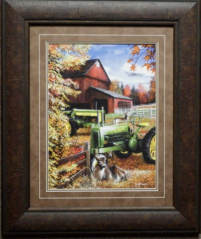 Kevin Daniel At Days End John Deere Art Print-Framed