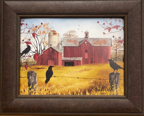 Billy Jacobs  Autumn Gold Farm Country Art Print-Framed