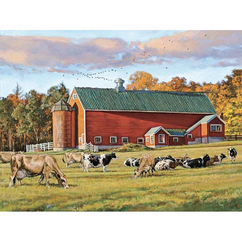 Bonnie Mohr Autumn Splendor Cow and Farm Art Print