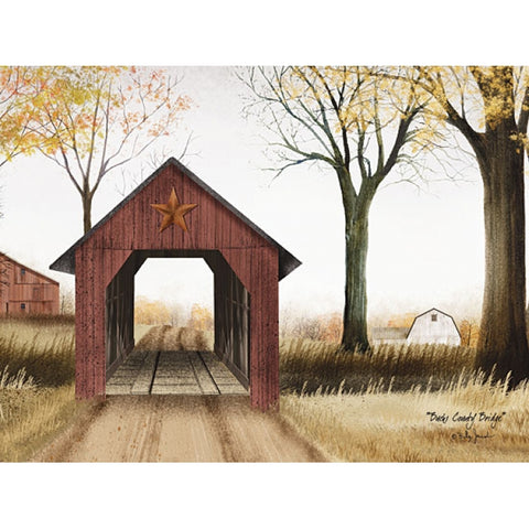 Billy Jacobs Bucks County Bridge Art Print 16 x 12