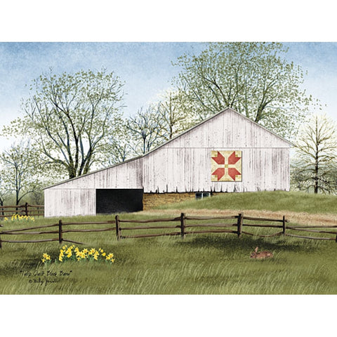 Billy Jacobs tulip Quilt block barn Art Print