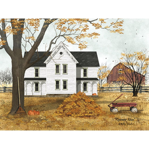 Billy Jacobs Remember When Country Fall leave Art Print